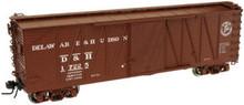 Atlas O D&H 40' single sheathed box car,3rail or 2 rail