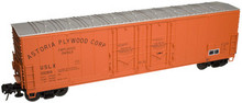 Atlas O astoria plywood  53'  DPD box car, 3 rail or 2 rail