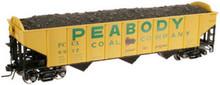 Atlas O Peabody 3 bay hopper car, 3 or 2 rail