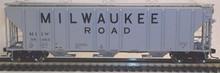 Atlas O Milwaukee Road 50' Covered Hopper, 3 or 2 rail