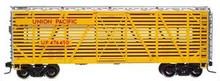 Atlas O UP yellow 40' stock car, 3 rail or 2 rail