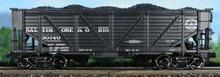 Atlas O B&O  composite 2 bay Hopper, 3 rail