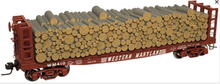 Atlas O WM 40' Pulpwood flat car, 3 rail  or 2 rail