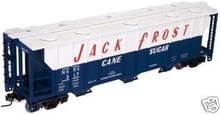 Atlas O Jack Frost 40'  covered hopper, 3 or 2 rail