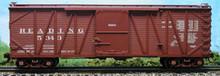 Atlas O Reading single sheathed box car, 3 or 2 rail