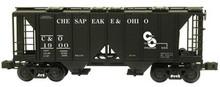 Weaver C&O 34' ACF covered hopper car, 2 or 3 rail