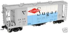 Atlas O Diamond Sugar Airslide Cov Hopper, 3 or 2 rail