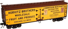 Atlas O Horvitz Brothers Fruit and Produce 40' wood reefer, 3 rail or 2 rail