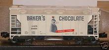Weaver Bakers Chocolate covered hopper car, 3 or 2 rail