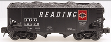 Atlas O Reading   2 Bay Fishbelly Hopper (speed letters), 3 rail