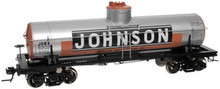 Atlas O Johnson Oil 8000 gallon  tank car, 3 rail or 2 rail