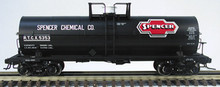 Atlas O Spencer Chemical 11,000 gal tank car, 3 rail or 2 rail