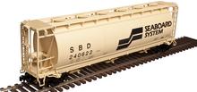 Atlas O Seaboard System  Cylindrical Covered Hopper, 3 rail or 2 rail