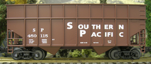 Weaver SP 34' woodchip hopper car, 3 rail or 2 rail