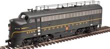 Atlas O PRR F-7 A powered and F-7B non-powered diesels, 3 rail