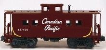Weaver CP (maroon) center cupola caboose, 3 rail