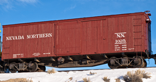 Pre-Order for PDT exclusine Atlas O Nevada Northern 40' double sheathed (wood) box  car