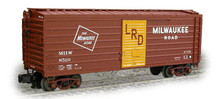 Weaver MILW ribbed side box car, yellow door w LRD