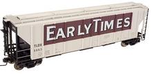 Atlas O Early Times PS4427 50' Covered Hopper, 3 rail or 2 rail
