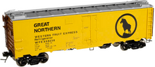 Atlas O  GN Western Fruit Express (large logo)  40'  steel reefer, 3 or 2 rail