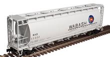 Atlas O Wabash  Cylindrical Covered  Hopper, 3 rail or 2 rail