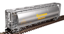 Atlas O SP  (Yellow letters)  Cylindrical Covered  Hopper,  2 rail