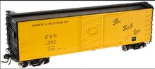 Atlas O Muncie and Western 40' USRA Steel Box Car