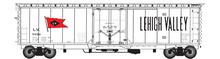 Atlas O LV (white) 50' plug door box car, 3 rail or 2 rail