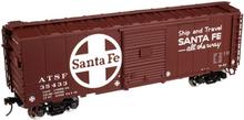 Atlas O (trainman) Santa Fe  40' Steel Box car, 3 rail or 2 rail