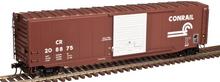 Atlas O Conrail  50' single door door box car,  3 rail or 2 rail