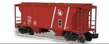 Weaver CNJ (red) PS-2 covered hopper car, 3 or 2 rail