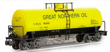 Weaver Great Northern Oil 40' tank car, 3 rail or 2 rail