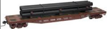 Atlas O CN 50' flat car with pipe load
