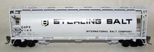 Atlas O Sterling Salt  Cylindrical Covered  Hopper, 3 rail or 2 rail