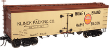 Atlas O  Honey Brands Ham and Bacon 36' wood reefer,  3 rail or 2 rail
