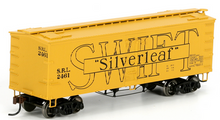 Atlas O  Swift silverleaf  36' wood reefer,  3 rail or 2 rail