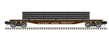 Atlas O Santa Fe 50' flat car with pipe load