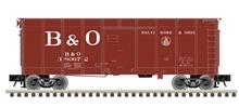 Atlas O B&O (Oxide red, large B&O)  40' wagon top box  car