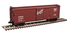 Atlas O CB&Q  40' double sheathed wood box  car