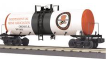 MTH Railking  Red Hat Gasoline  Modern Tank Car, 3 rail