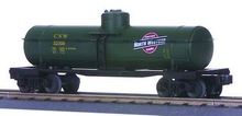 MTH Railking  CNW green Tank Car, 3 rail
