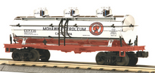 MTH Railking Mohawk Petroleum chrome Tank Car, 3 rail