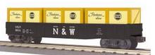 MTH Railking N&W (large N&W)) gondola with crates, 3 rail