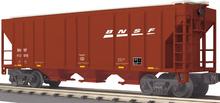 MTH Railking BNSF 3 bay  covered hopper car 3 rail