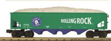 MTH Railking Rolling Rock Beer 4 bay  hopper car, 3 rail