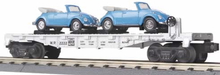 Railking diecast Flat Car with VW Beatles, 3 rail