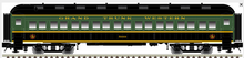 Atlas O 60' GTW Coach Car, 3 rail or 2 rail