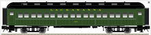 Atlas O 60' Lackawanna (green) Coach Car, 3 rail or 2 rail