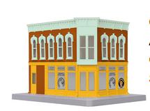 MTH 30-90390 O gauge Amanda's Candy Shop 2 story corner building w/blinking sign
