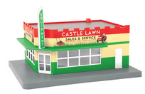 MTH 30-90393 O gauge Castle Lawn Mover Repair  1 story corner building